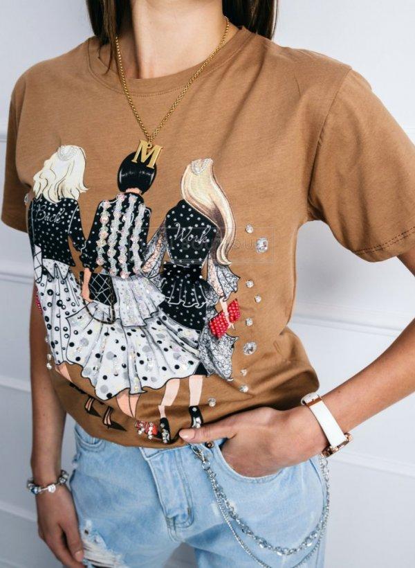 T-shirt bluzka Woman Fashion coffe