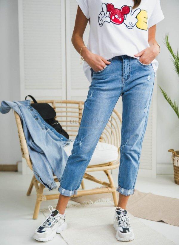 Spodnie jeansowe typu MomJeans Nina