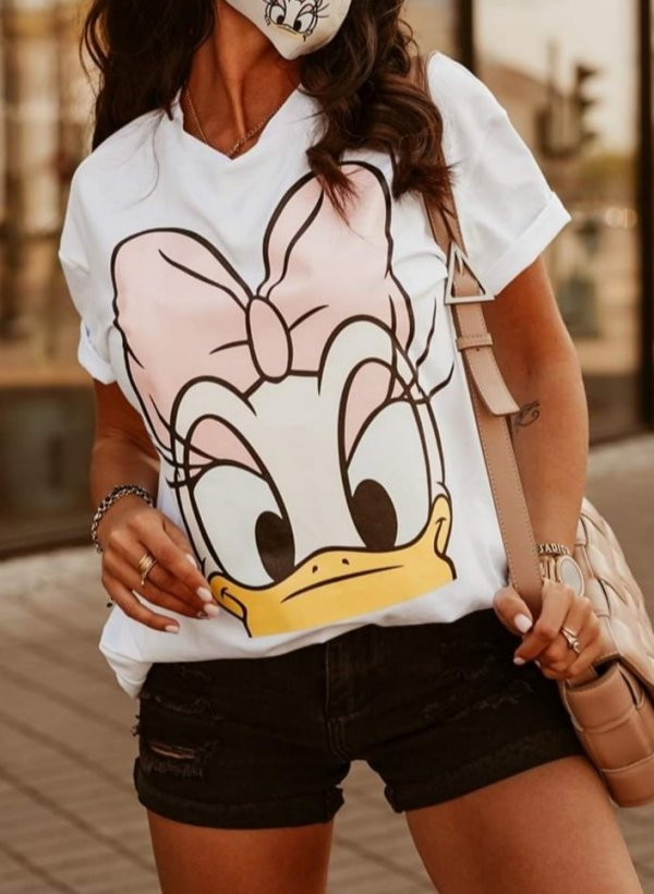 T-shirt Daisy white