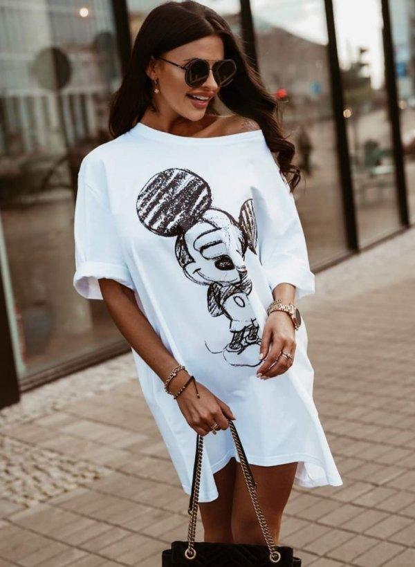 Sukienka Mouse biała