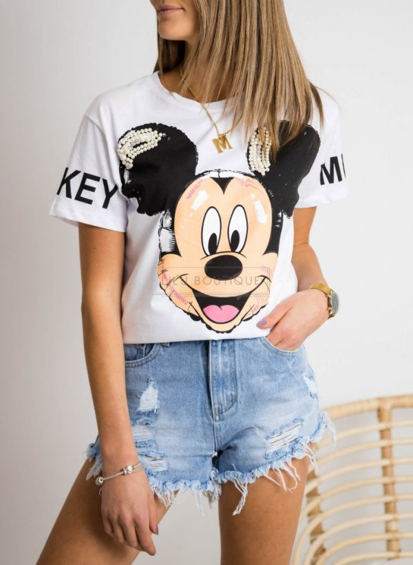 T-shirt Pearl Mickey white