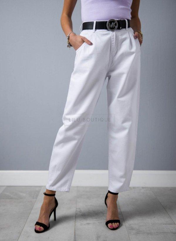 Spodnie Slouchy Adore białe