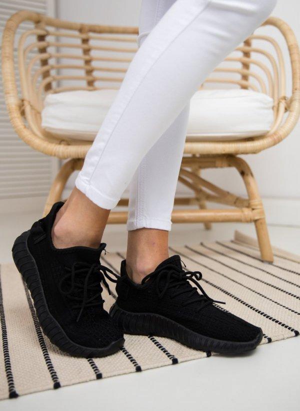 Sportowe obuwie Lace czarne