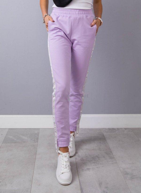 Spodnie casualowe z lampasem Velsatino III violet
