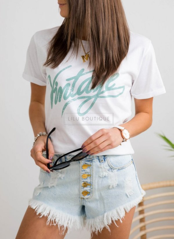 T-shirt/bluzka Vintage green
