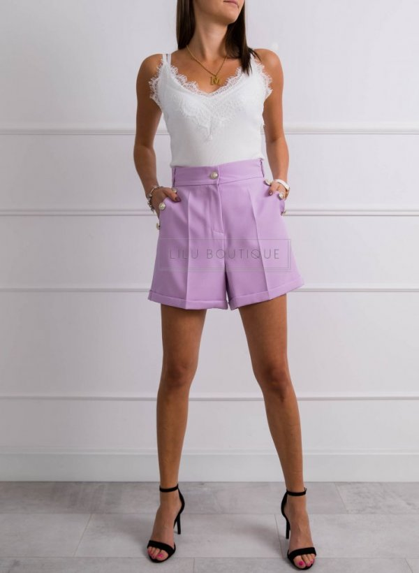 Spodenki eleganckie Parla violet