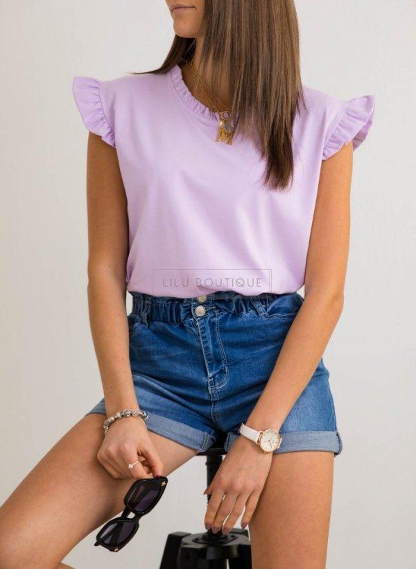 Bluzeczka z falbankami Coria lawender
