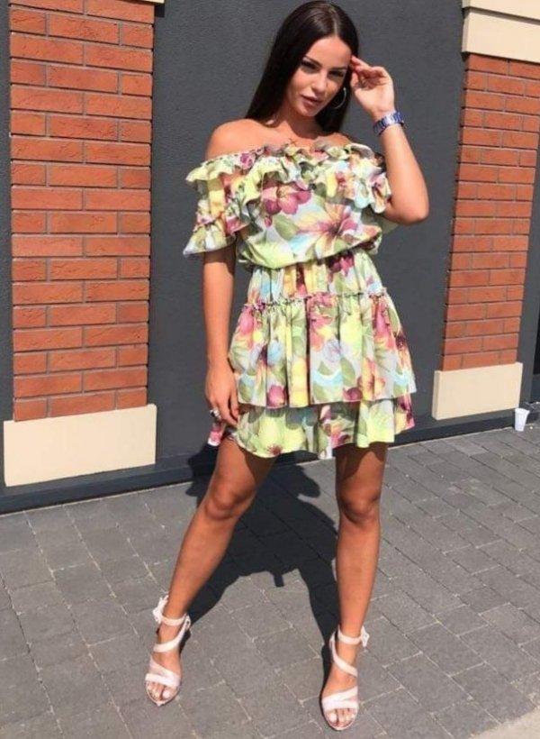 Sukienka Mona w kwiatki