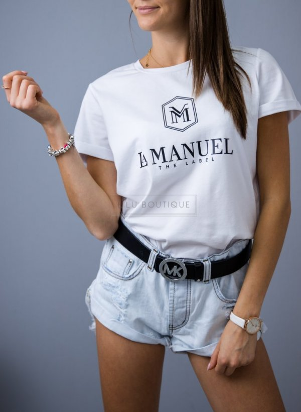 T-shirt/bluzka Manuel jasne logo