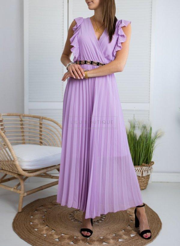 Sukienka plisowana Afrodyta violet
