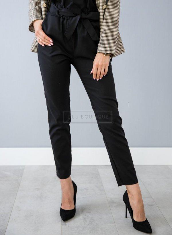 Spodnie eleganckie wiązane czarne