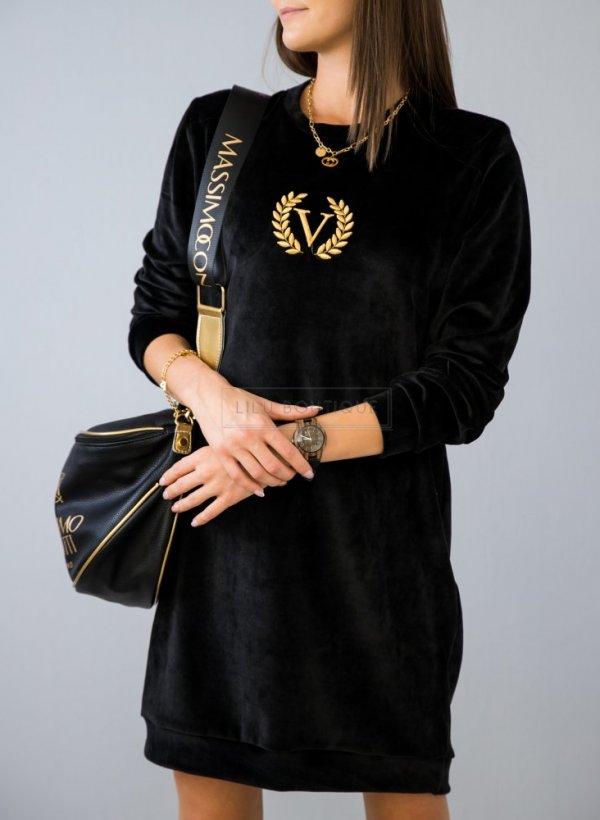 Sukienka/tunika welurowa Vera czarna