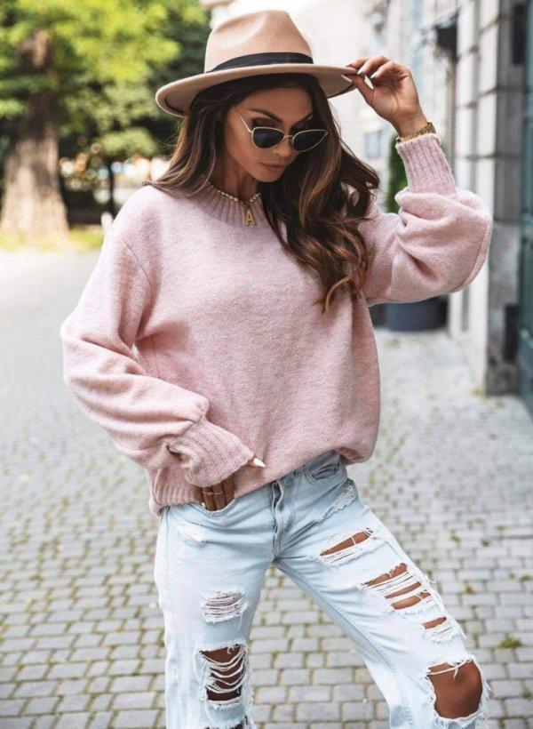 Sweterek Aida pastelowy róż