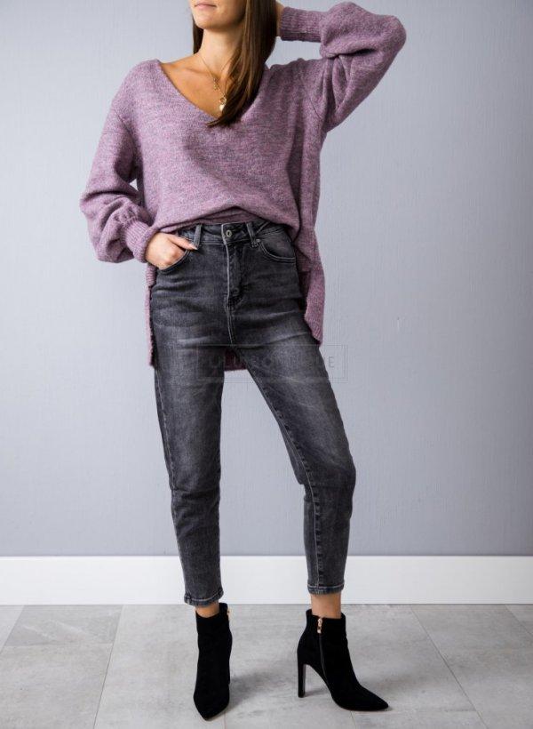 Spodnie Carrot fit dekatyzowane czarne
