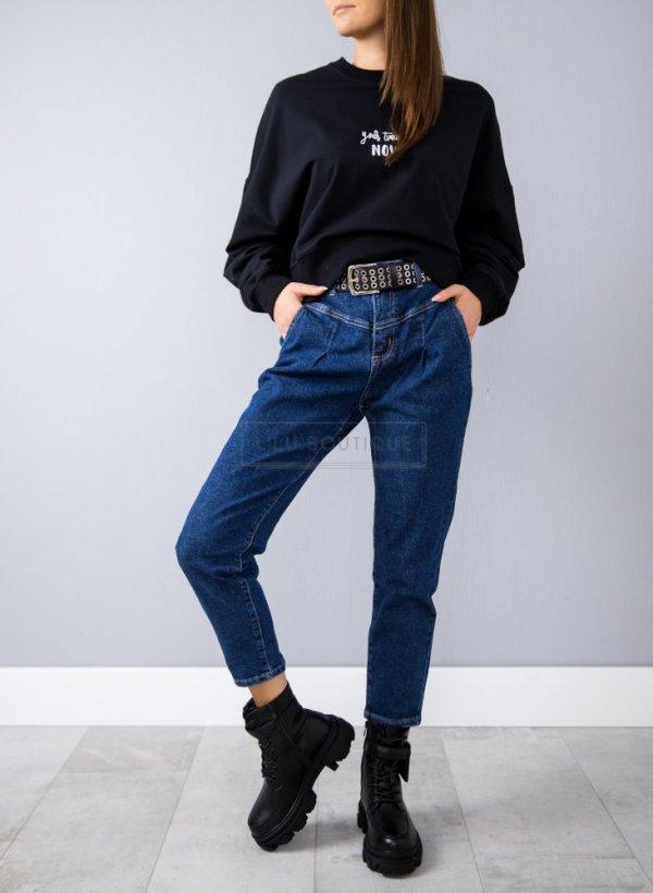 Spodnie jeansowe skinny Mum fit blue