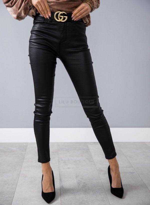 Spodnie eco skórzane Alibi czarne