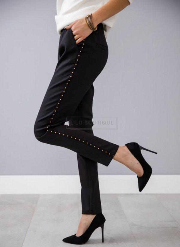 Spodnie czarne z dżetami Campi