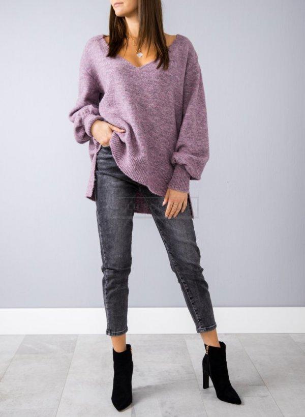 Sweter Lima melanż violet