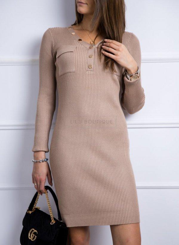 Sukienka sweterkowa Anett beżowa