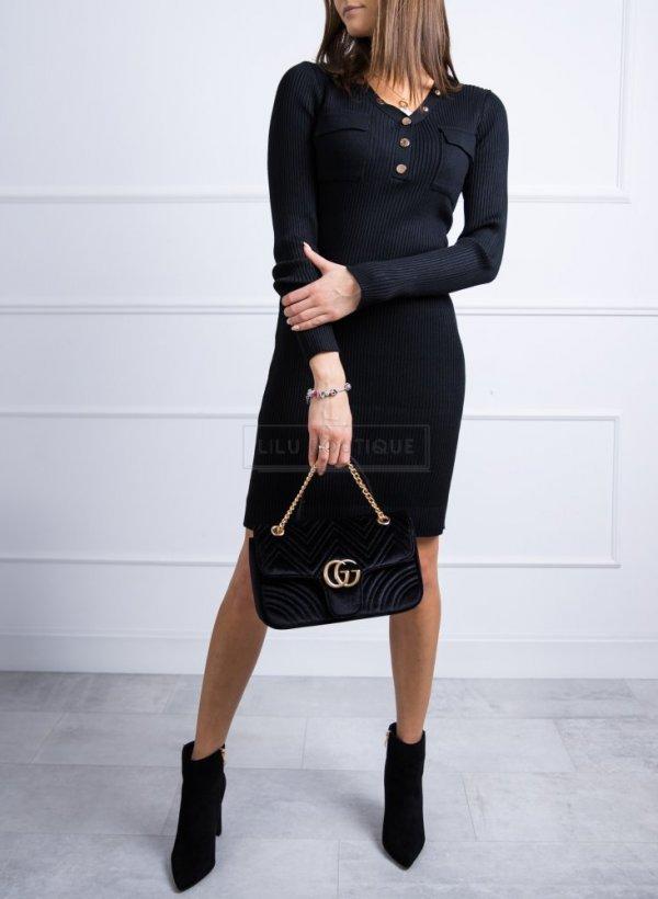 Sukienka sweterkowa Anett czarna