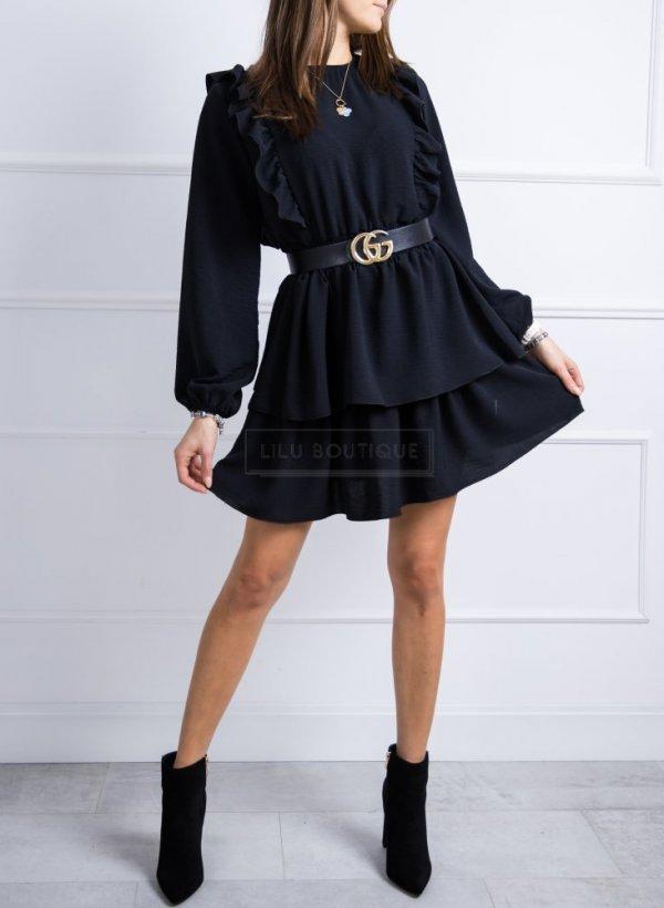 Sukienka z falbankami Lila czarna