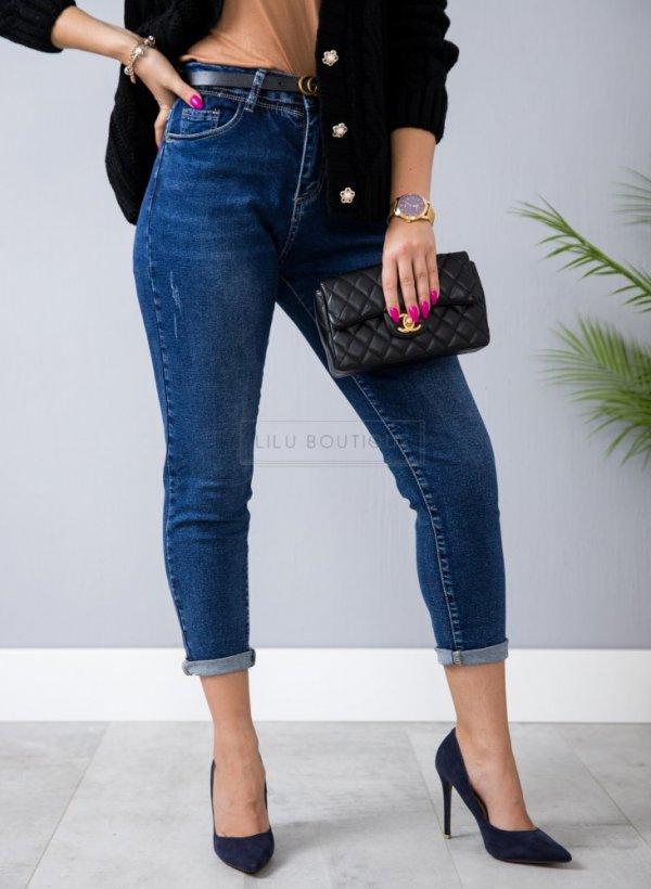 Spodnie jeansowe Retro super skinny wysoki stan