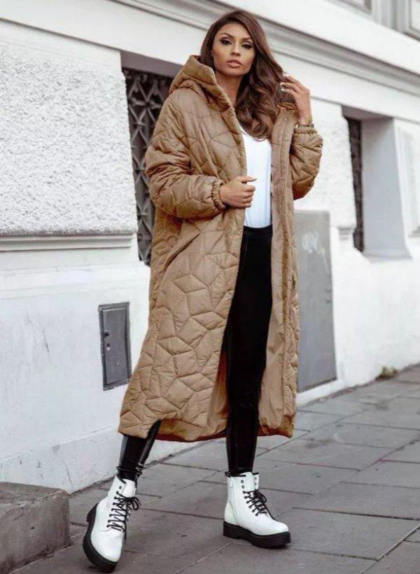 Płaszcz pikowany Simon brąz