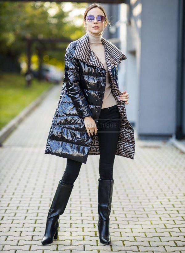 Płaszcz dwustronny Maroco black/beige