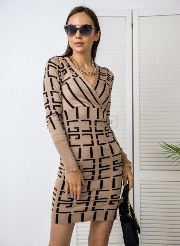 Sukienka sweterkowa Geometric