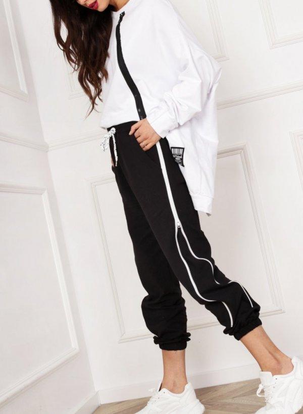 Spodnie dresowe z zamkami Mea czarne