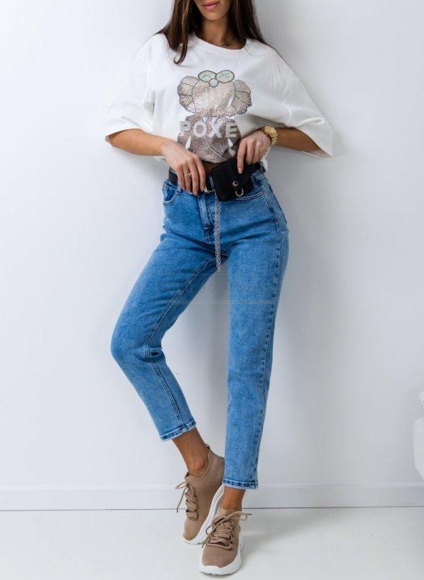 Spodnie jeansowe Boyfriend z nerką