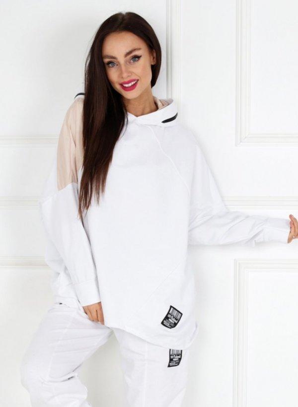 Bluza oversize Florence white/beige