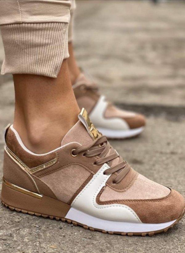 Sportowe buty Giorno rose/beige/white