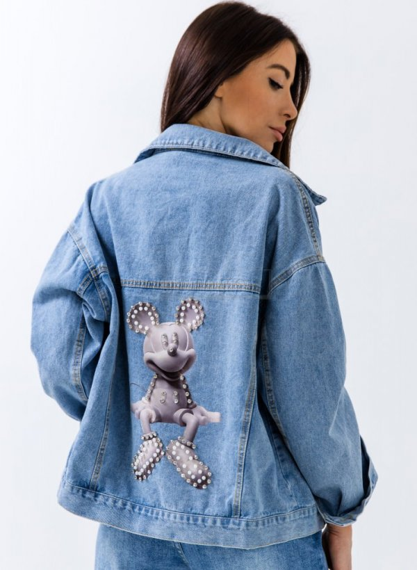 Katana jeansowa Mouse light blue