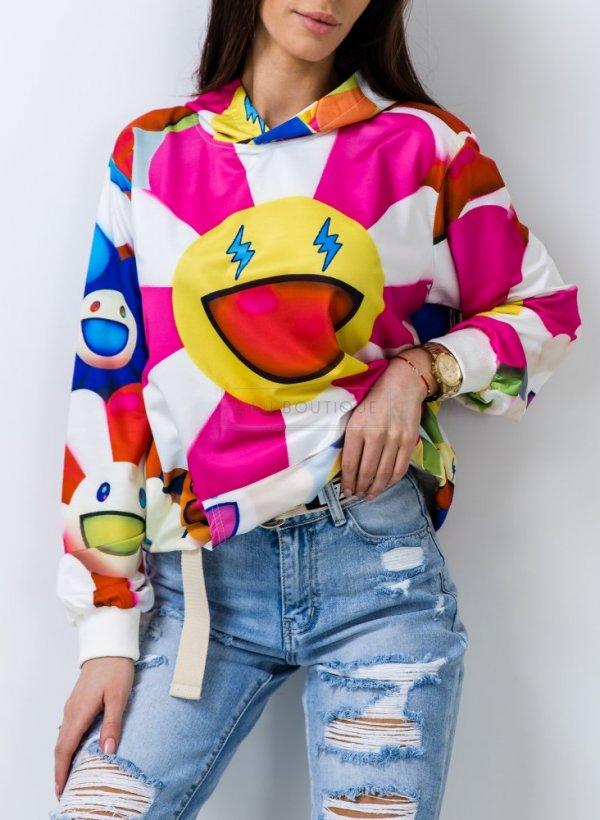 Bluza Emotikon multicolor
