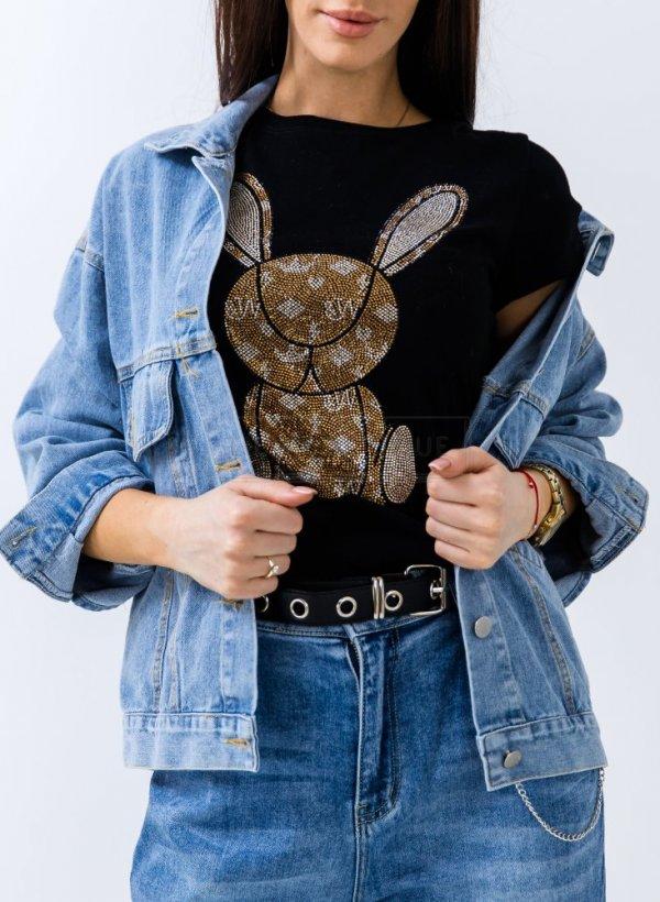 T-shirt Glam Bunny czarny