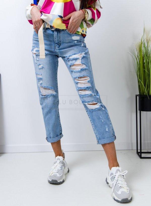 Spodnie jeansowe z dziurami Ripped light blue