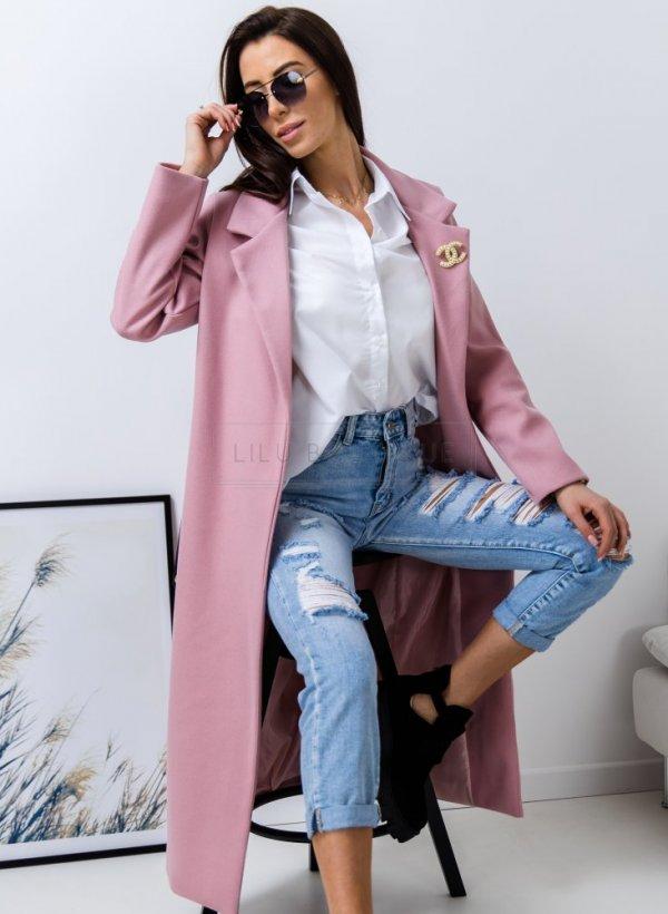 Płaszcz wiosenny Courbevoie pudrowy róż