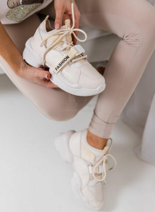 Sportowe buty na grubej podeszwie Yerres beige