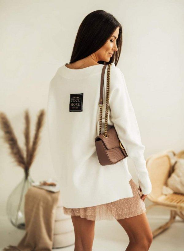Sweter o luźnym fasonie Classy krem