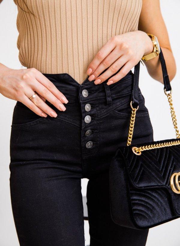 Spodnie z wysokim stanem Prato black
