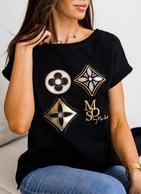 T-shirt Loui czarny