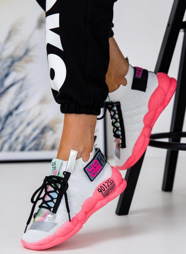 Sportowe buty Flar silver/pink