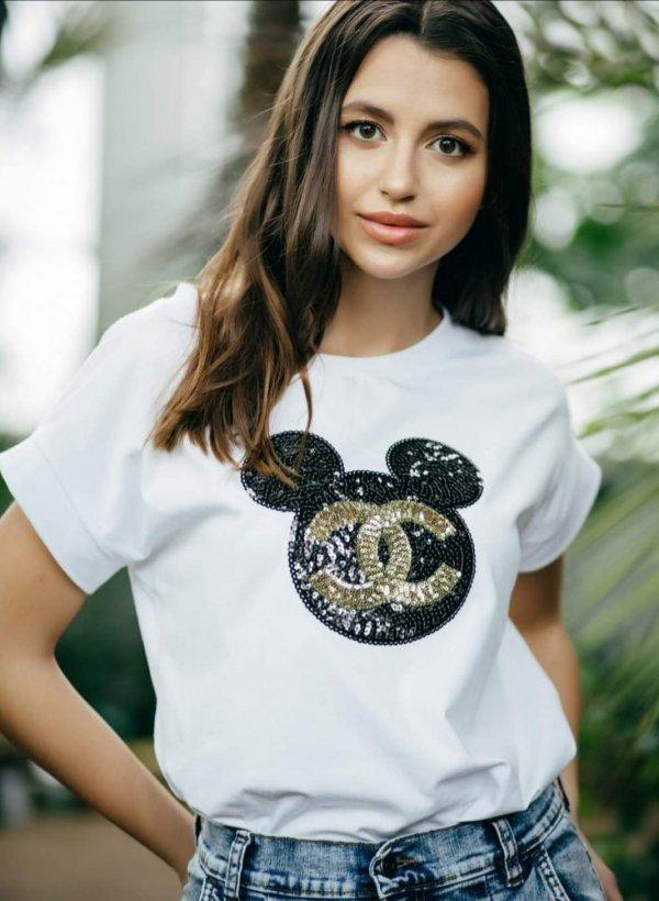 T-shirt Mouse CC biała