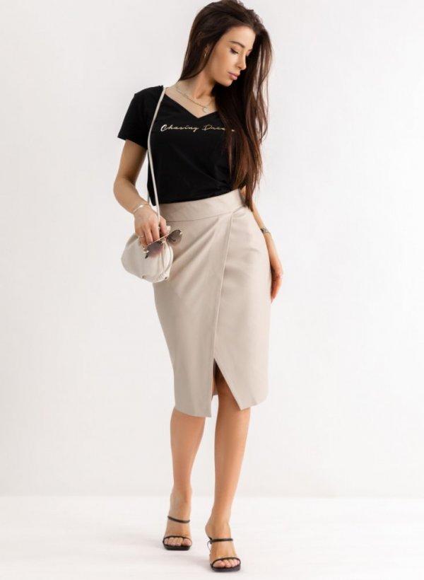 Spódnica elegancka Carmella beżowa