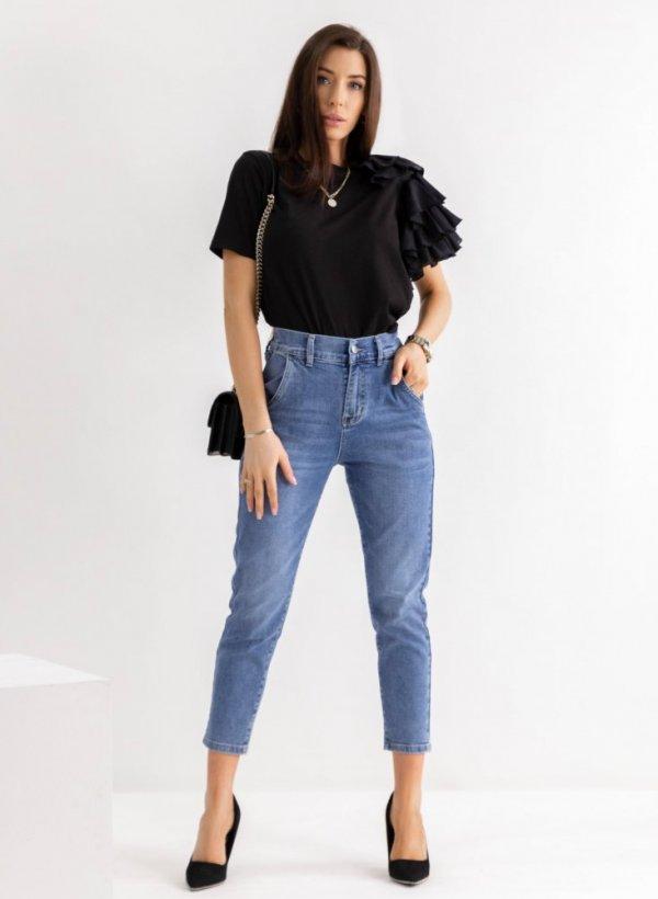 Spodnie jeansowe Sarah Mum fit blue