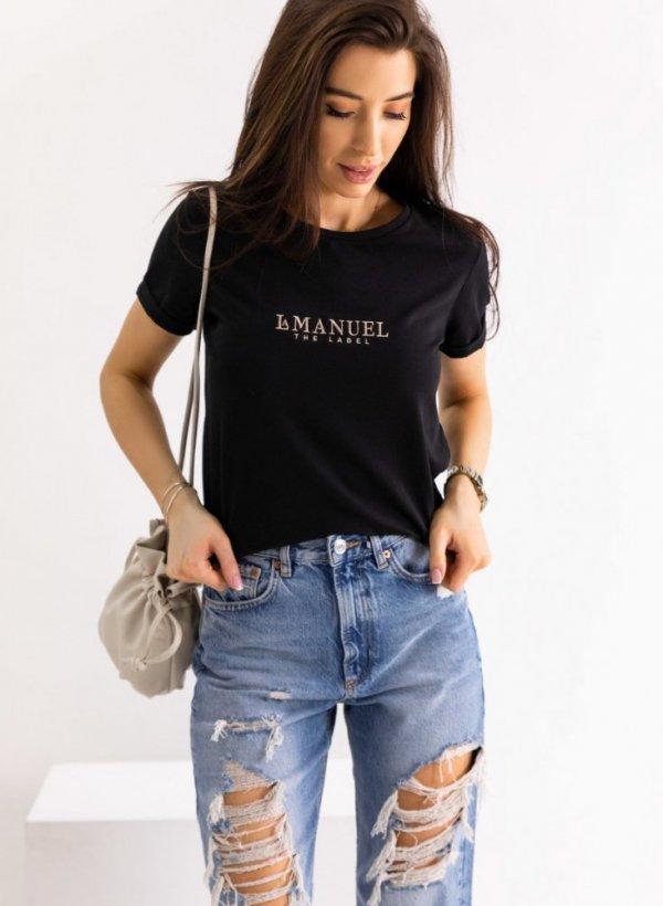 T-shirt/bluzka Manuel czarny