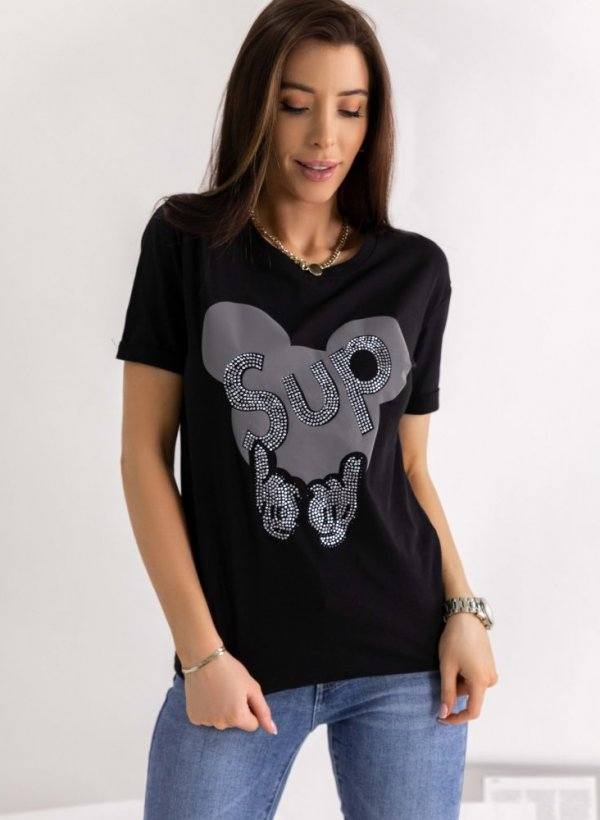 T-shirt Mouse SUP czarny