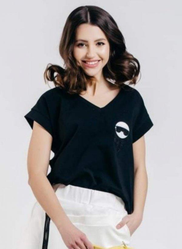 T-shirt Lager czarny