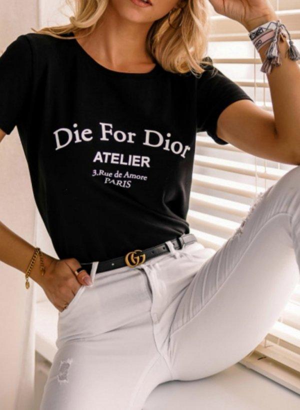 T-shirt Die for czarny